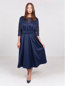 Dark Blue Midi Dress
