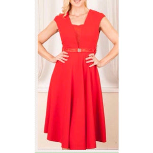 Milly Brown Red Skater Dress