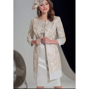 Ispirato Cream/Silver Dress Suit (IY971)