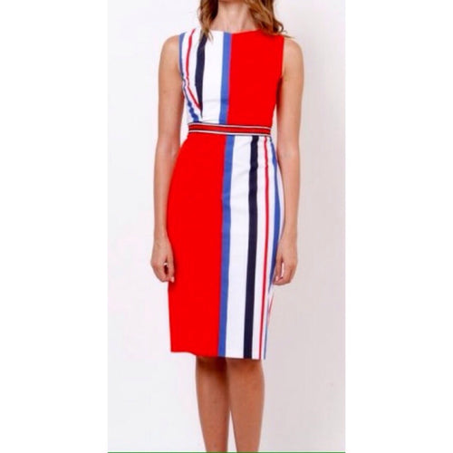 Red Striped Shift Dress