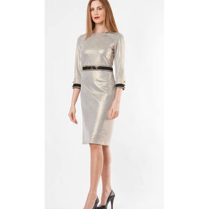 Metallic Gold Pencil Dress