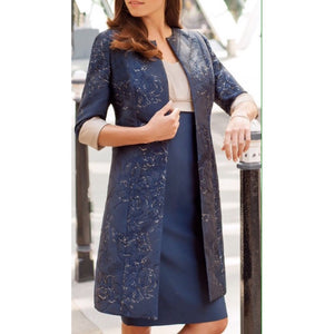 Ispirato Navy/Truffle Dress Suit (ISA960)