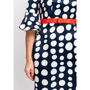 Camelot Navy Polka Dot Dress