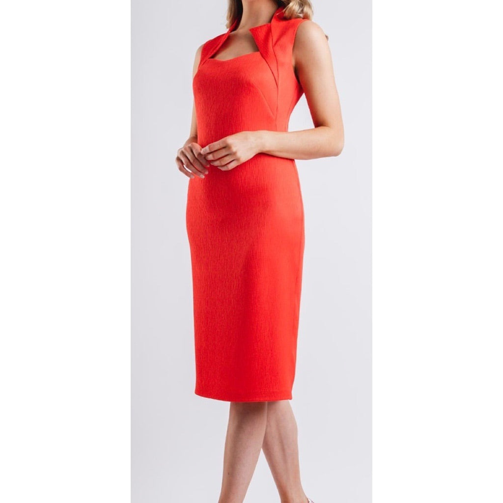 Camelot Red/Orange Textured Dress