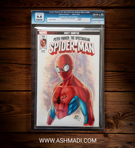 GRADED 9.8 - SPIDER-MAN SKETCH COVER