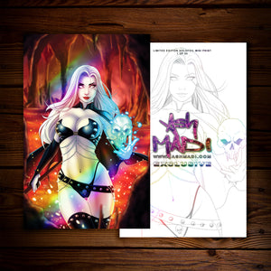 LADY DEATH - HOLOFOIL (MINI) PRINT