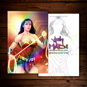 WONDER WOMAN - HOLOFOIL (MINI) PRINT