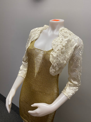 """Flourishing love "" floral bridal bolero"