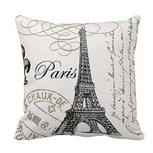 Paris Inspired Cushion Cover Home Decor