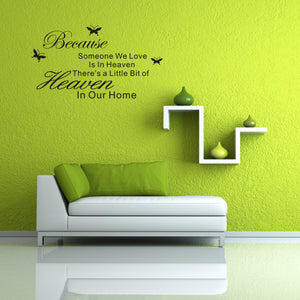 New DIY Removable Art PVC Vinyl Quote Wall Stickers Decal Mural