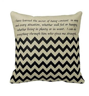 Motivational Sofa Bed Home Decoration Festival Pillow Case Cushion Cover