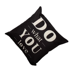 Do What You Love Motivational Cushion Cover Home Decor