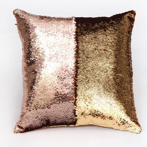 Rose Gold & Brown Two Tone Glitter Sequins Cushion Covers