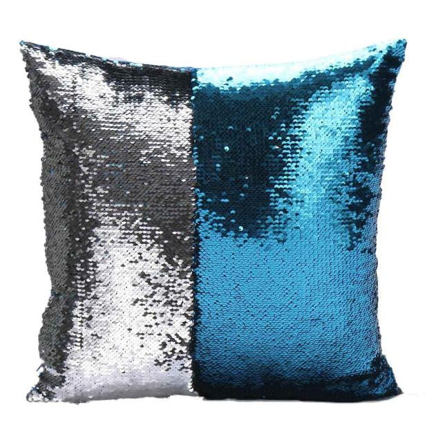 DIY Two Tone Glitter Sequins Throw Pillow Covers