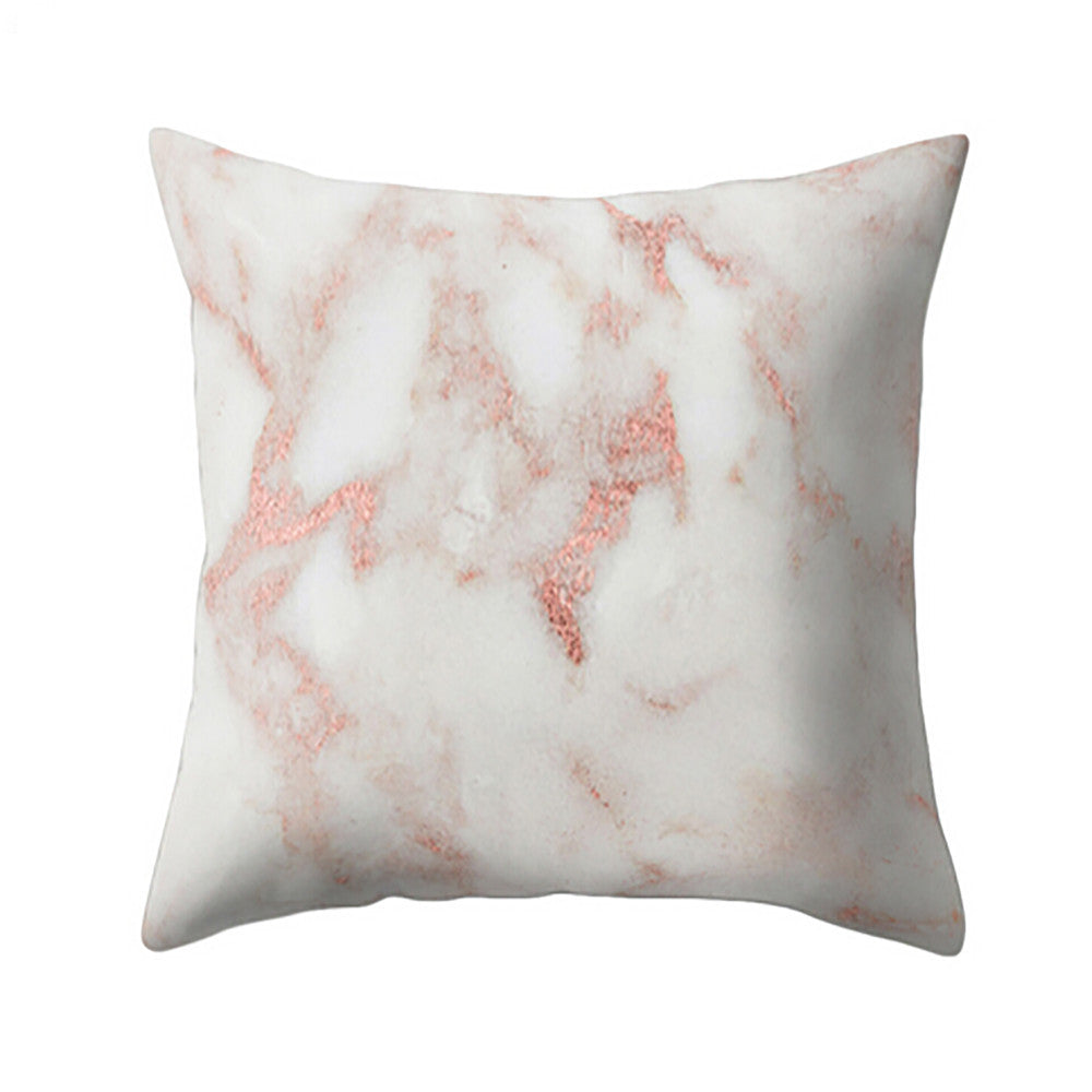 Geometric Marble Texture Cushion Cover