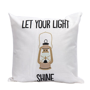Let Your Light Shine Cushion Covers Home Decor