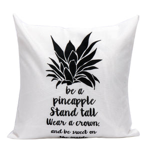 Be A Pineapple Cushion Cover Home Decor
