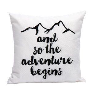 Adventure Begins Cushion Cover Home Decor