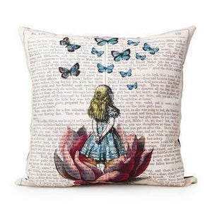 Avid Reader Pillow Case Decorative Cushion Cover