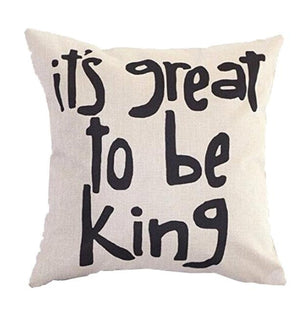 It's Great to be KING Pillow Case Cushion Cover Home Decor