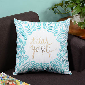 Blue Treat Yourself  Cushion Cover Home Decor