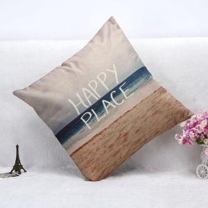 Happy Place Beach Cushion Cover
