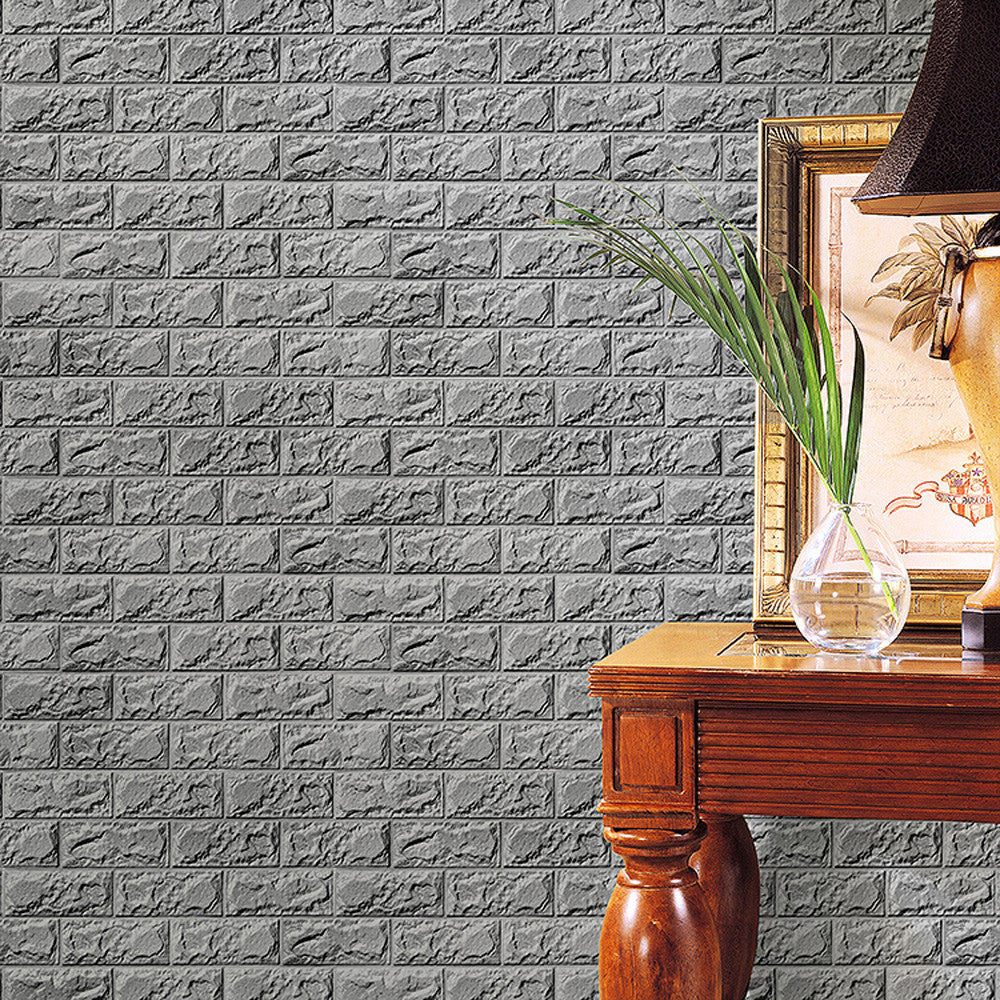 Embossed Brick Stone PE Foam 3D Wallpaper