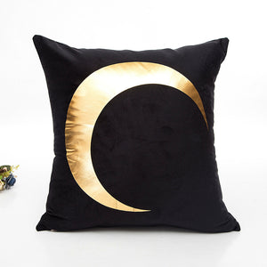 Gold Crescent Cushion Cover