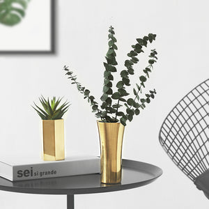 Gold Planters Flower Pots