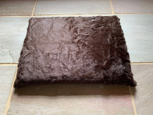 Super Luxurious Glossy Brown Faux Fur dog Bed