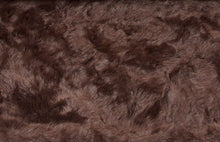 Sumptuous Contrasting Faux Fur Glossy Brown