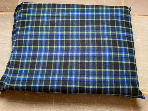 Blue Checked Luxury dog Bed