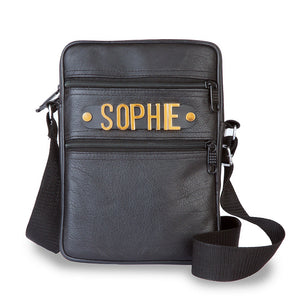 Personalised Crossbody Leather Bag with Dog Walk Essentials