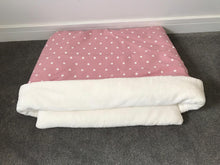 Snuggle Pouch Pink with White Polka Dot