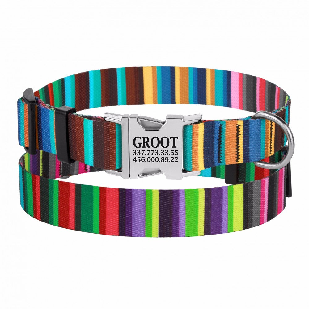 Personalised Handcrafted Funky Woven Fabric Collar-Multi Coloured