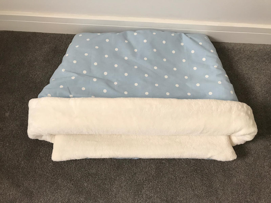 Snuggle Pouch Pale Blue with White Polka Dot