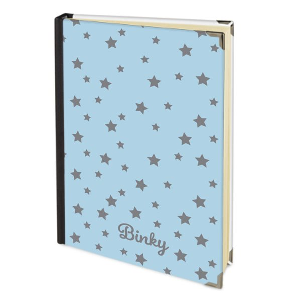 Personalised 2019 Diary in Pastel Blue with Grey Stars & your Dog's Name