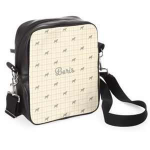 'All Your Essentials' Walk Out Bag in Dorset Cream with Breed of Dog Silhouette and Name Handcrafted in the UK