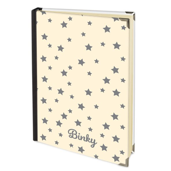 Personalised 2019 Diary in Dorset Cream with Grey Stars & your Dog's Name