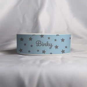 'Just for You' Personalised Ceramic Food / Water Bowl with Dogs name. Handcrafted in England