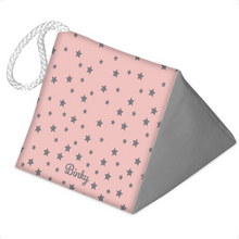 'Created for You' Doorstop in Dusky Pink with Grey Stars & your Dog's Name