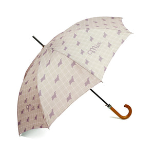 'Exclusively Yours'  Personalised Umbrella in Stone Beige Handcrafted in England