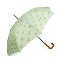 'Exclusively Yours'  Personalised Umbrella in Willow Green Handcrafted in England