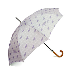'Exclusively Yours'  Personalised Umbrella in French Grey Handcrafted in England