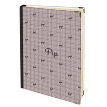 Personalised 2019 Diary in Stone Beige with Dog Name and Breed Silhouette