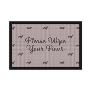 'Please Wipe Your Paws' Entrance Mat with Breed Silhouette Option