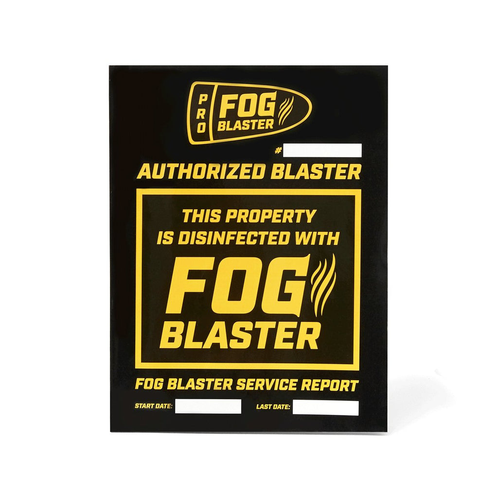 AUTHORIZED FOG BLASTER™ SERVICE REPORT BOOKS (pack of 2) - Fog Blaster-