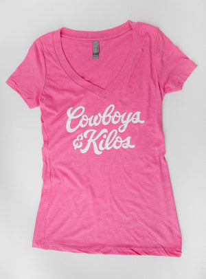 Cowboys & Kilos Fem's Deep V-neck Tee