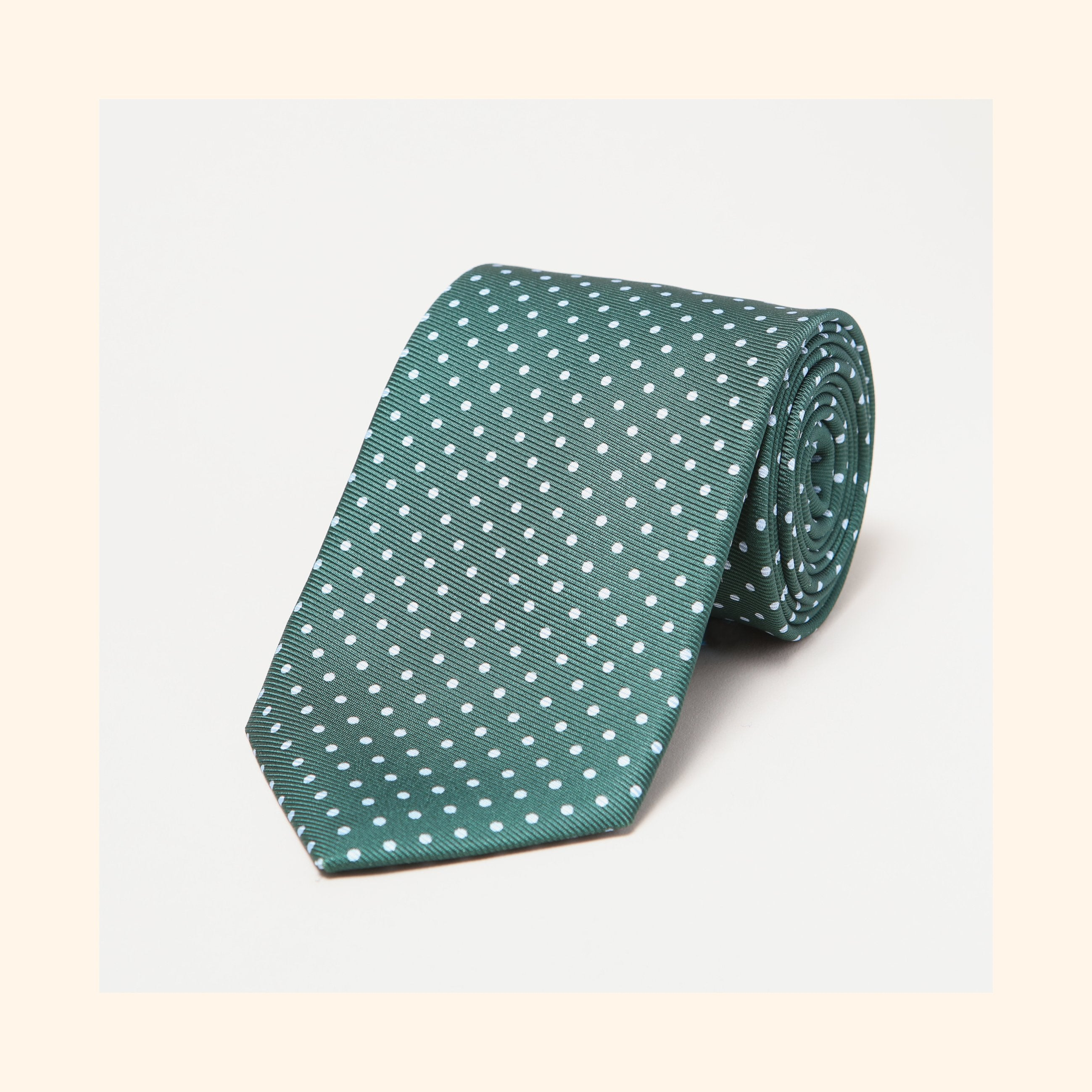 № 021 - Green Dot Screen-Printed 50oz Silk Tie