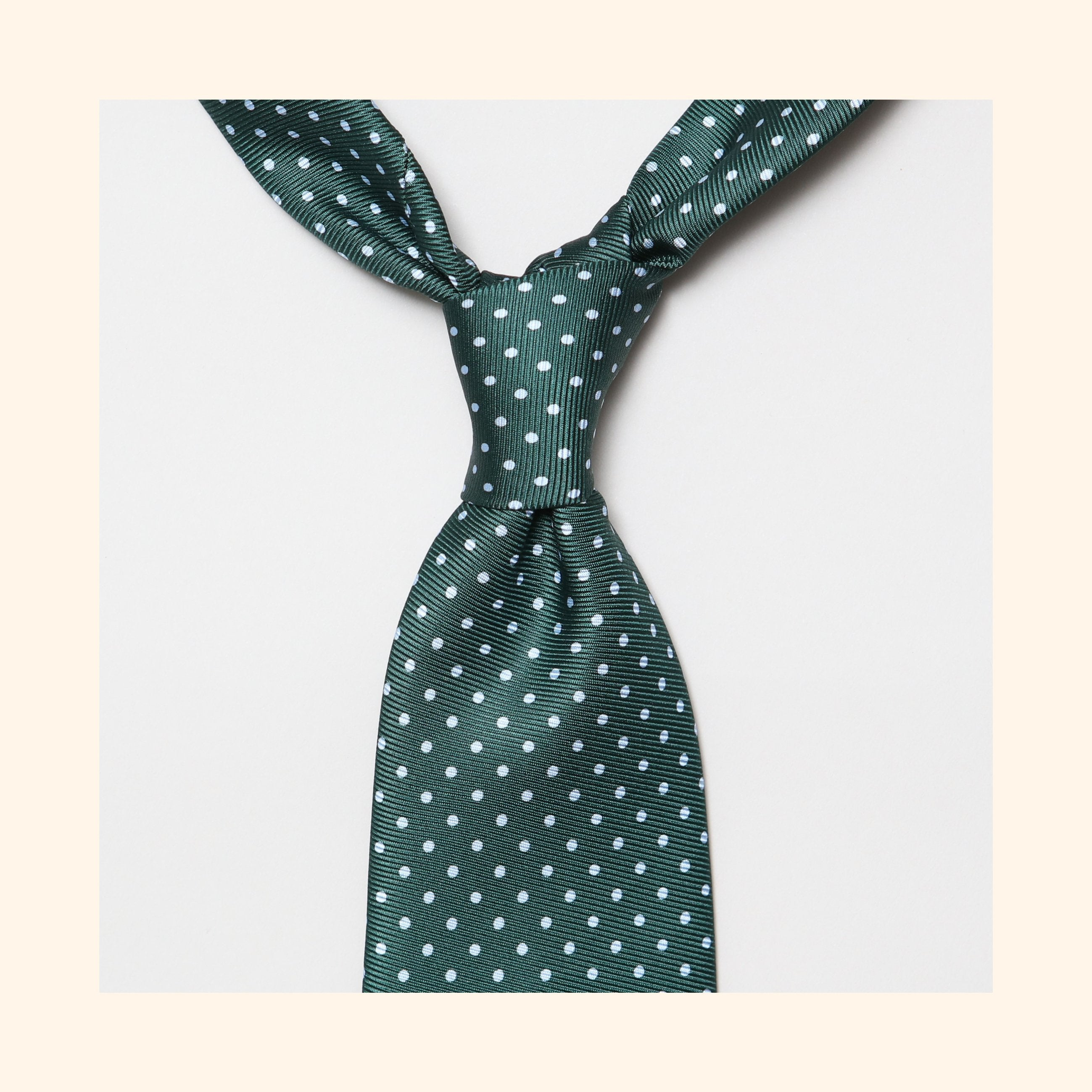 "â""– 021 - Green Dot Screen-Printed 50oz Silk Tie"